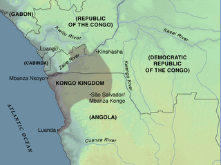 Kongo kingdom map showing its position in relation to other complex societies from Central, Eastern and Southern Africa